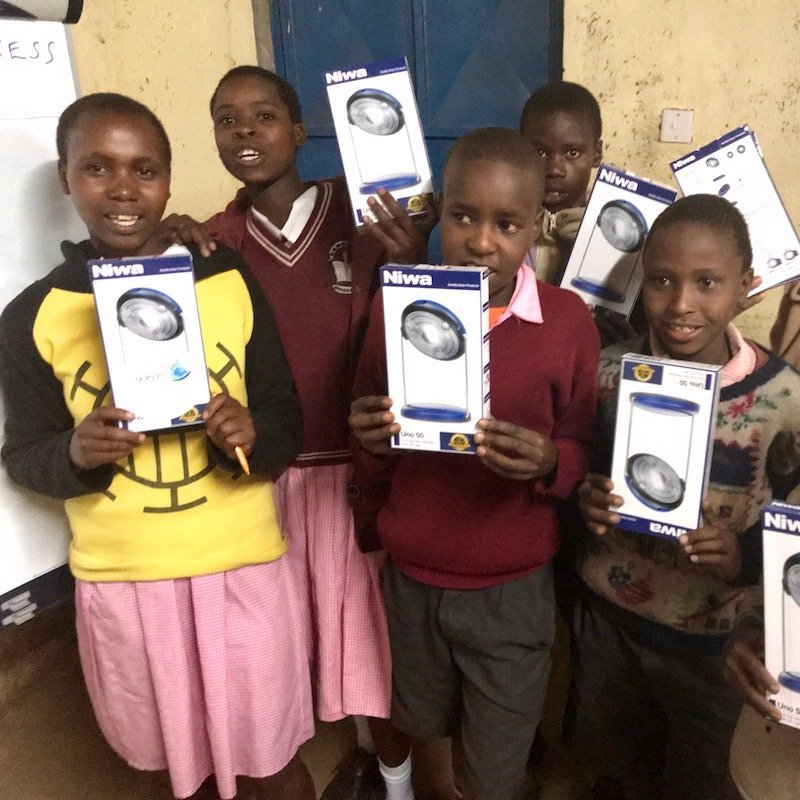 Eor Ormayian students with Solar Lamps-Solar power module -Innov8 Africa