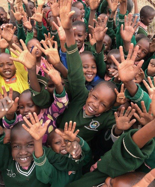 Waving Children Ntuka - Innov8 Africa